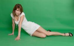 Girl in a white dress Stock Photos