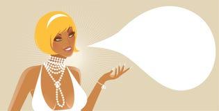 Girl in white dress. Vector illustration Stock Image