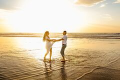 Dance with a loved one, at sunset.