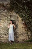 Girl in white dress Royalty Free Stock Photography