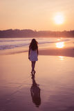 Girl in a white dress Royalty Free Stock Photos