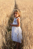 Girl in a white dress Royalty Free Stock Photography
