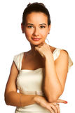 Girl in white gown Stock Photography