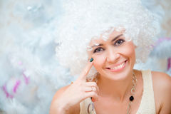 Girl with white hair Stock Image