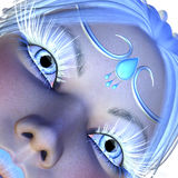 Girl with white lashes Royalty Free Stock Image