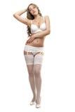 Girl in white lingerie Royalty Free Stock Image