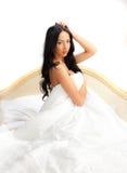 Girl in white lingerie Stock Photos