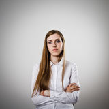 Girl in white Stock Images