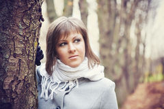 Girl with a white scarf Royalty Free Stock Photos