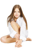 Girl in white shirt Stock Photography