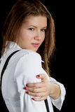 The girl in a white shirt Royalty Free Stock Photos