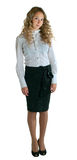 Girl in a white shirt and black skirt Stock Photo