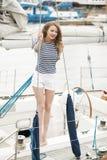 girl in white shorts Royalty Free Stock Photos