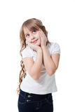 Girl in white t shirt Stock Photography