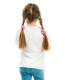 Girl in white t-shirt stands with his back Royalty Free Stock Photos