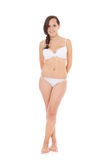 Girl in white underwear. Stock Images
