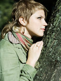 Girl whith scarf Stock Photo