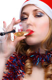Girl whith wine Royalty Free Stock Photos