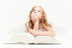 Girl who believes in fairy tales... Stock Photography
