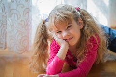 Girl who is bored Royalty Free Stock Photography