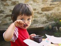 Girl who eats Royalty Free Stock Photography