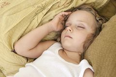 Girl who sleeps peacefully Royalty Free Stock Photography