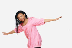Girl wih arms outstretched Stock Image