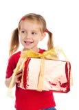 Girl wih the present Stock Photo