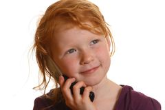 Girl wiht cell phone Royalty Free Stock Image