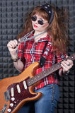 Girl wiht guitar Royalty Free Stock Photo