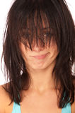 Girl with wild hair Stock Image
