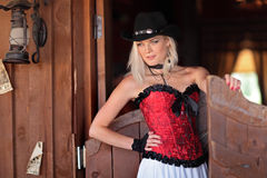 A girl with a wild West Royalty Free Stock Photos