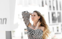 Girl in the wind. Royalty Free Stock Photo