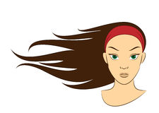 Girl in the Wind vector illustration