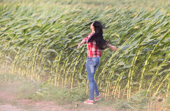 Girl in the wind Royalty Free Stock Image