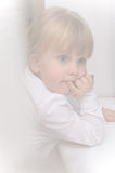 Girl window portrait royalty free stock images