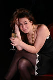 Girl with wine glass Royalty Free Stock Images
