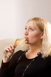 Girl with a wine glass Royalty Free Stock Photo
