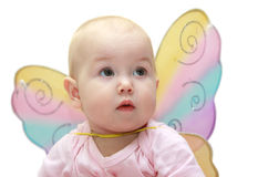 Girl with wings. Little girl with butterfly's wings Stock Images