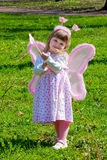 Girl with wings stock images