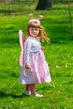 Girl with wings royalty free stock photo