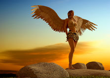 Girl with wings. Stock Image