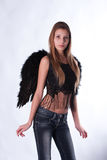 The girl with wings of an angel Stock Images
