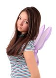 Girl  about wings, isolated. Royalty Free Stock Images