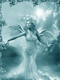 Girl with the wings Royalty Free Stock Images