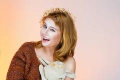 Girl winks Royalty Free Stock Image