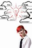 Girl wins crisis Royalty Free Stock Images