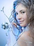 girl winter Royaltyfria Foton