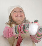 Girl winter Stock Photos