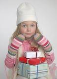 Girl winter Stock Image